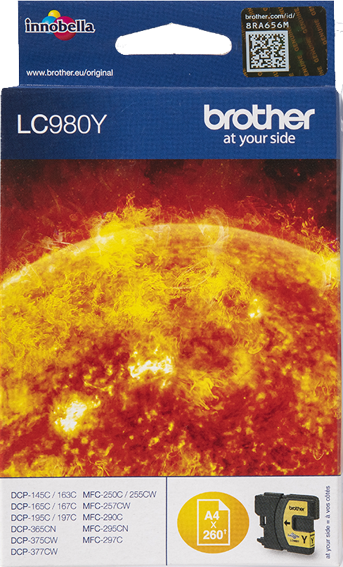 Brother LC-980Y geel
