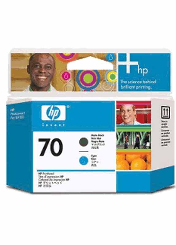 HP 70 printkop mat zwart en cyaan