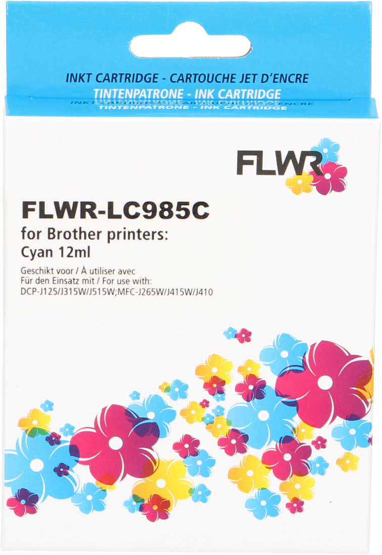 FLWR Brother LC-985C cyaan