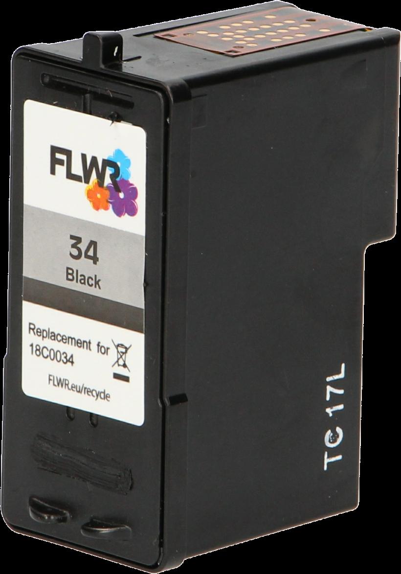FLWR Lexmark 34XL zwart
