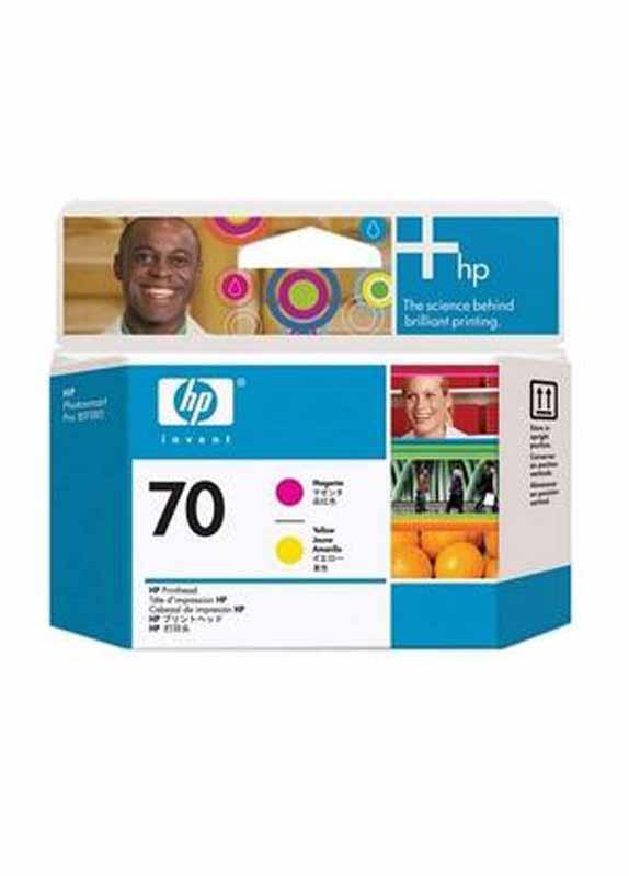 HP 70 printkop magenta en geel
