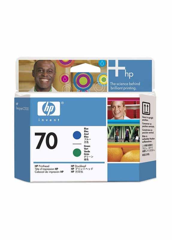 HP 70 printkop blauw en groen