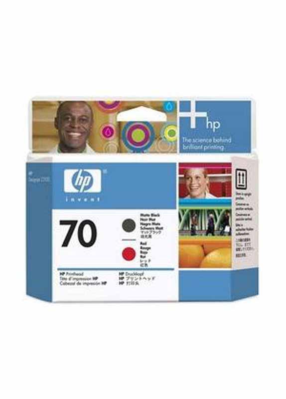 HP 70 printkop mat zwart en rood