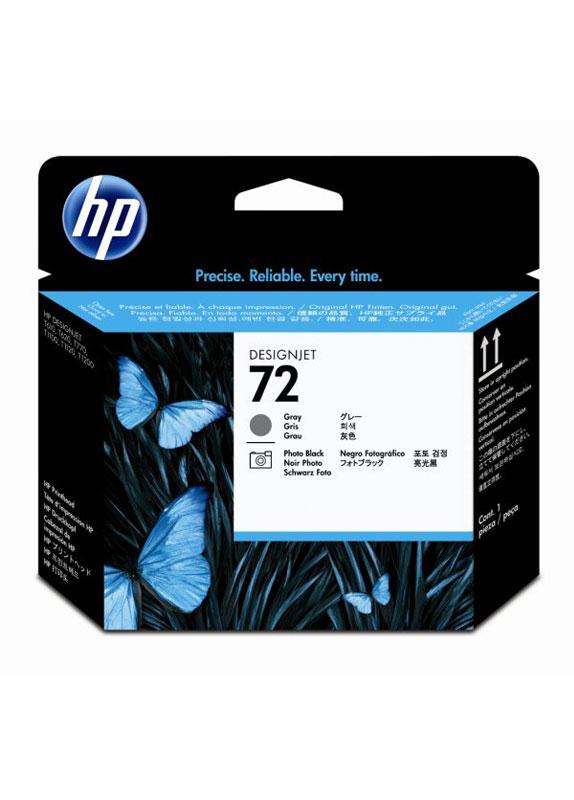 HP 72 printkop grijs en foto zwart