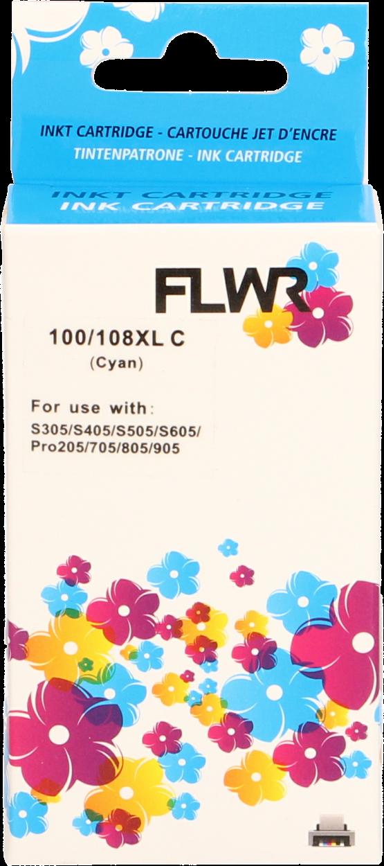 FLWR Lexmark 100XL cyaan