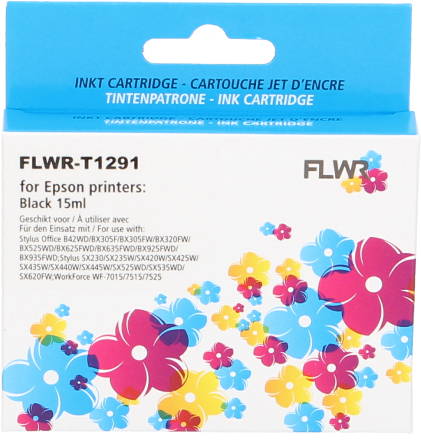 FLWR Epson T1291 zwart
