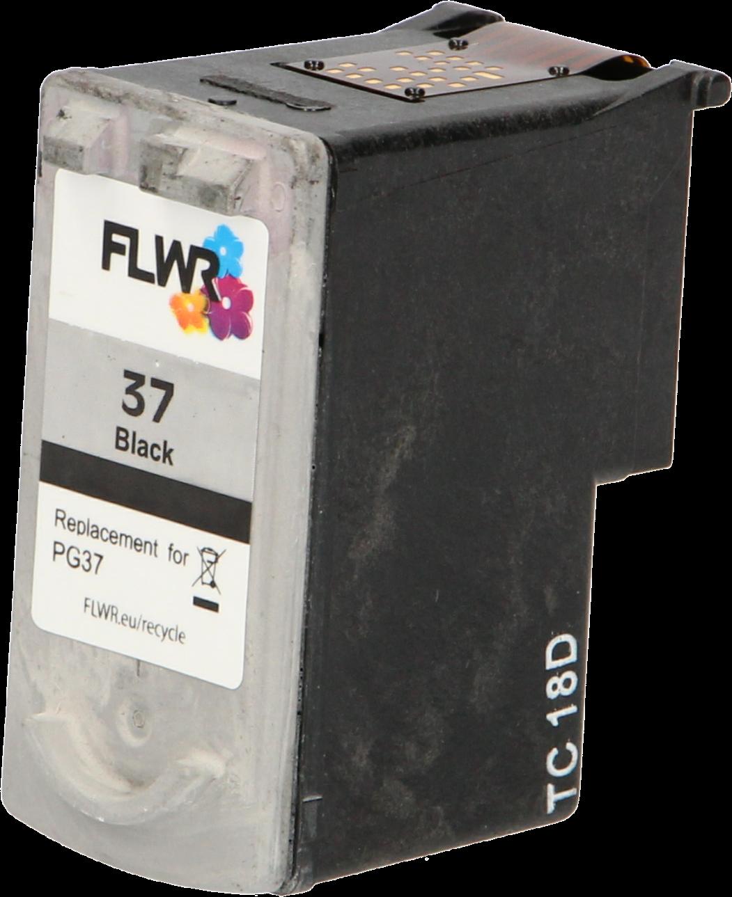 FLWR Canon PG-37 zwart