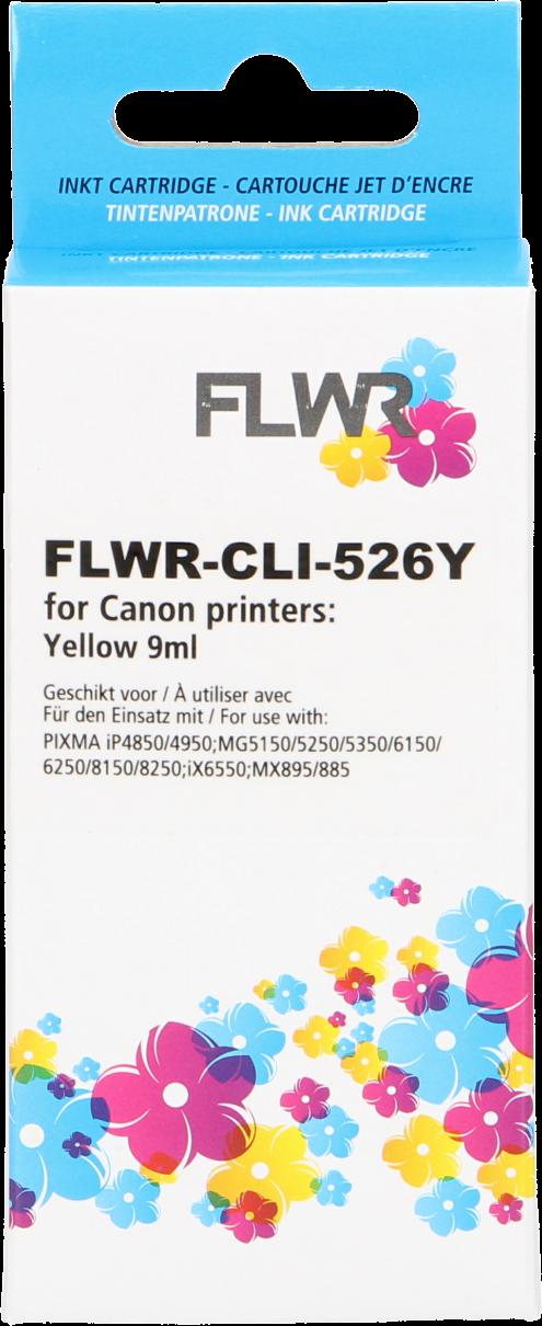 FLWR Canon CLI-526Y geel