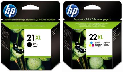 HP 21XL en 22XL zwart en kleur