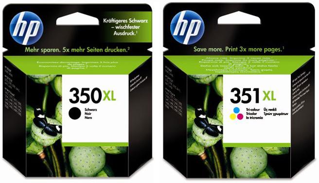 HP 350XL en 351XL zwart en kleur