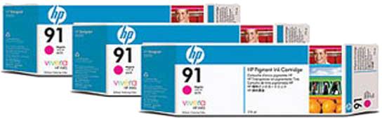 HP 91 3-pack magenta