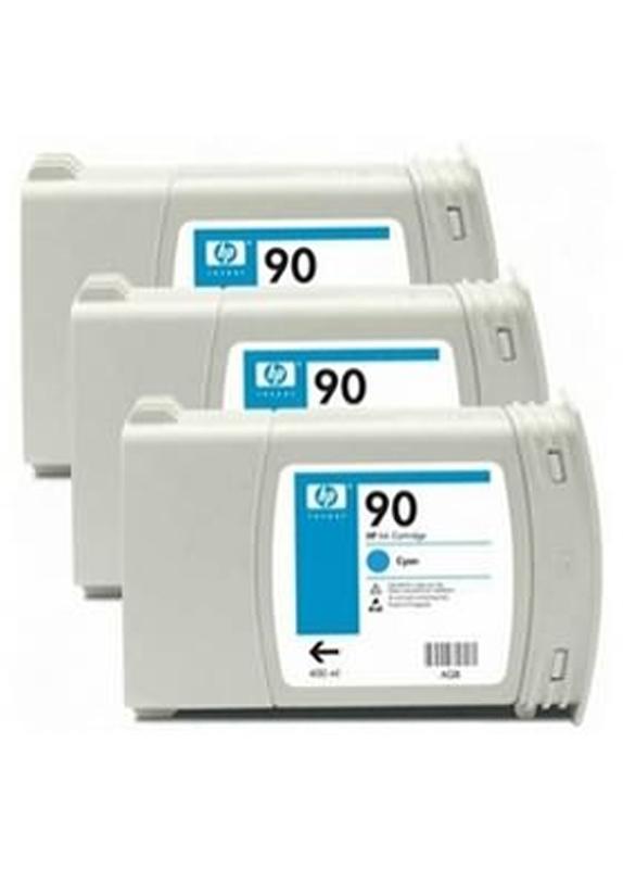 HP 90 3-Pack cyaan