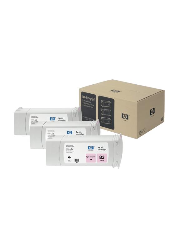 HP 83 3-pack licht magenta