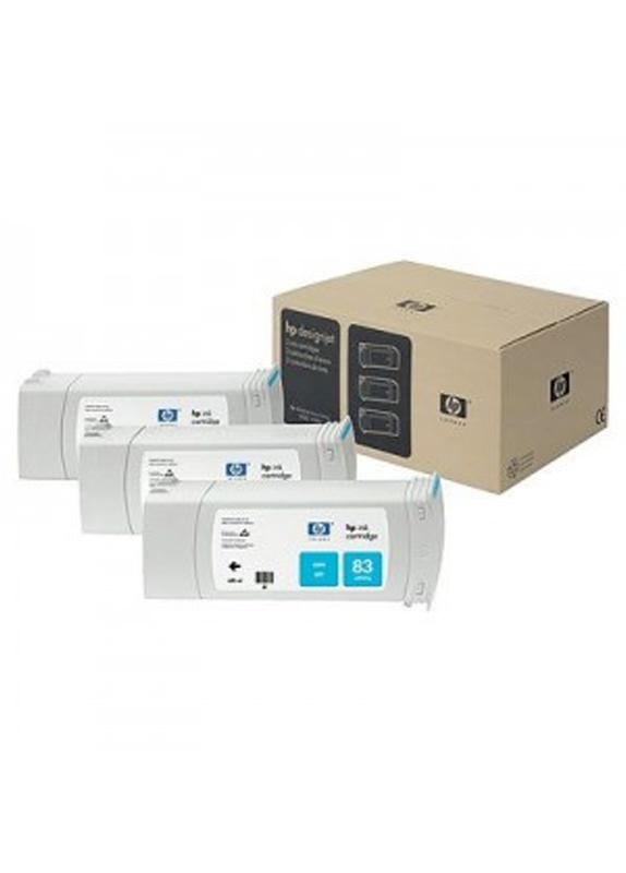 HP 83 3-pack cyaan