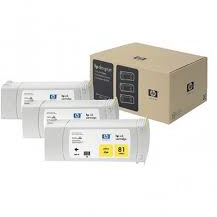 HP 81 3-pack geel