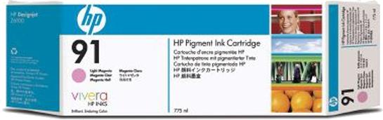 HP 91 3-pack licht magenta