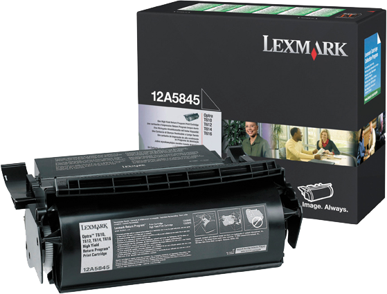 Lexmark 12A5845 zwart