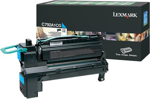 Lexmark C792, X792 cyaan