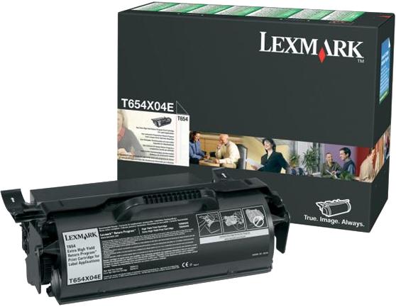 Lexmark T654X04E zwart