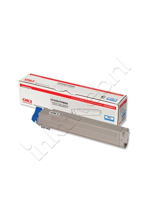 Oki C9600/C9650/C9800/C9850 Toner cyaan