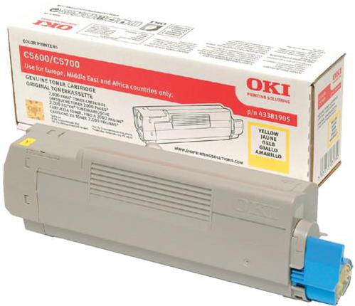 Oki C5600 / C5700 Toner geel