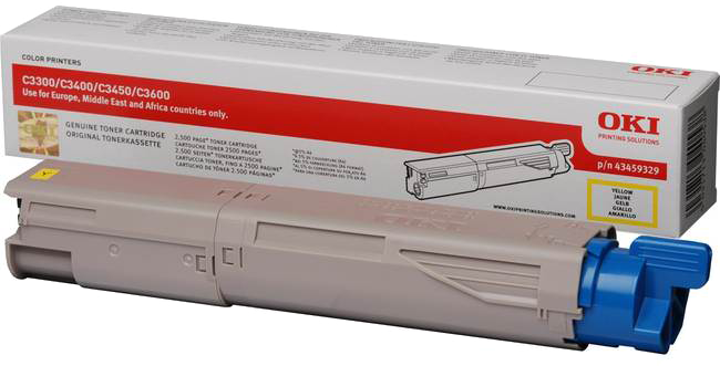 Oki C3300/C3400/C3450/C3600 Toner HC geel