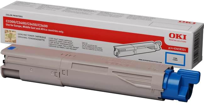 Oki C3300/C3400/C3450/C3600 Toner HC cyaan