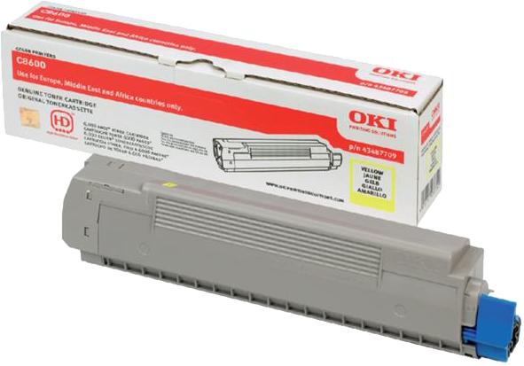 Oki C8600 / C8800 Toner geel