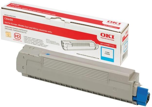 Oki C8600 / C8800 Toner cyaan
