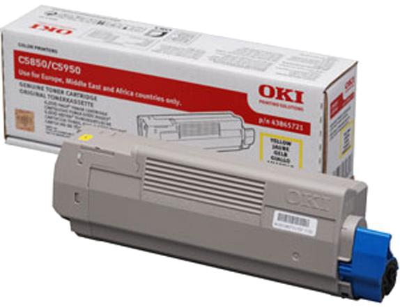 Oki C5850 / C5950 Toner geel