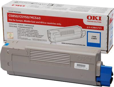 Oki C5850 / C5950 Toner cyaan