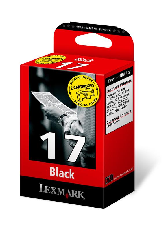 Lexmark 17 twin-pack zwart