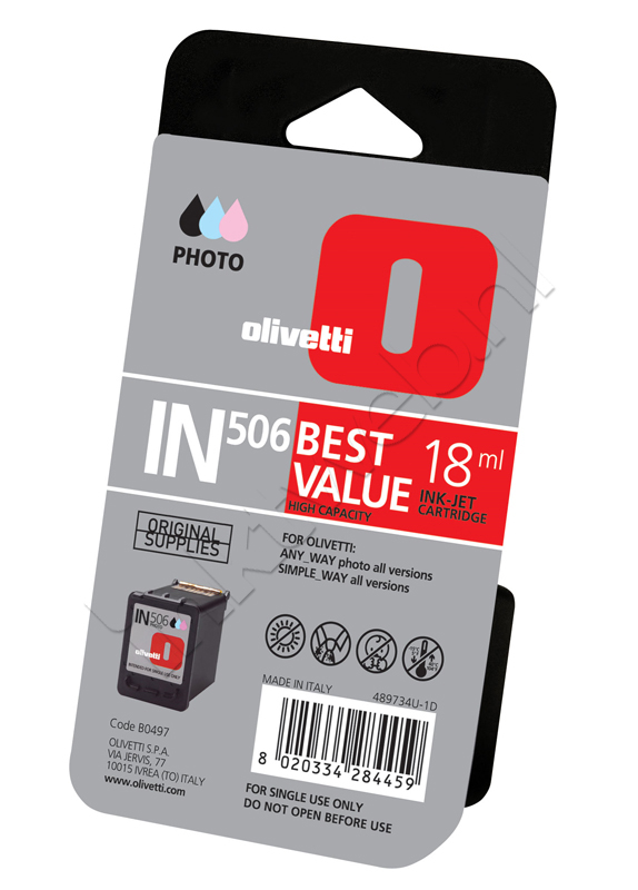 Olivetti IN506 (B0497) inktcartridge foto kleur