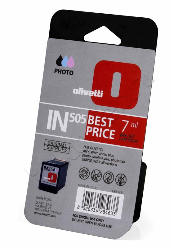 Olivetti IN505 (B0510) inktcartridge foto kleur