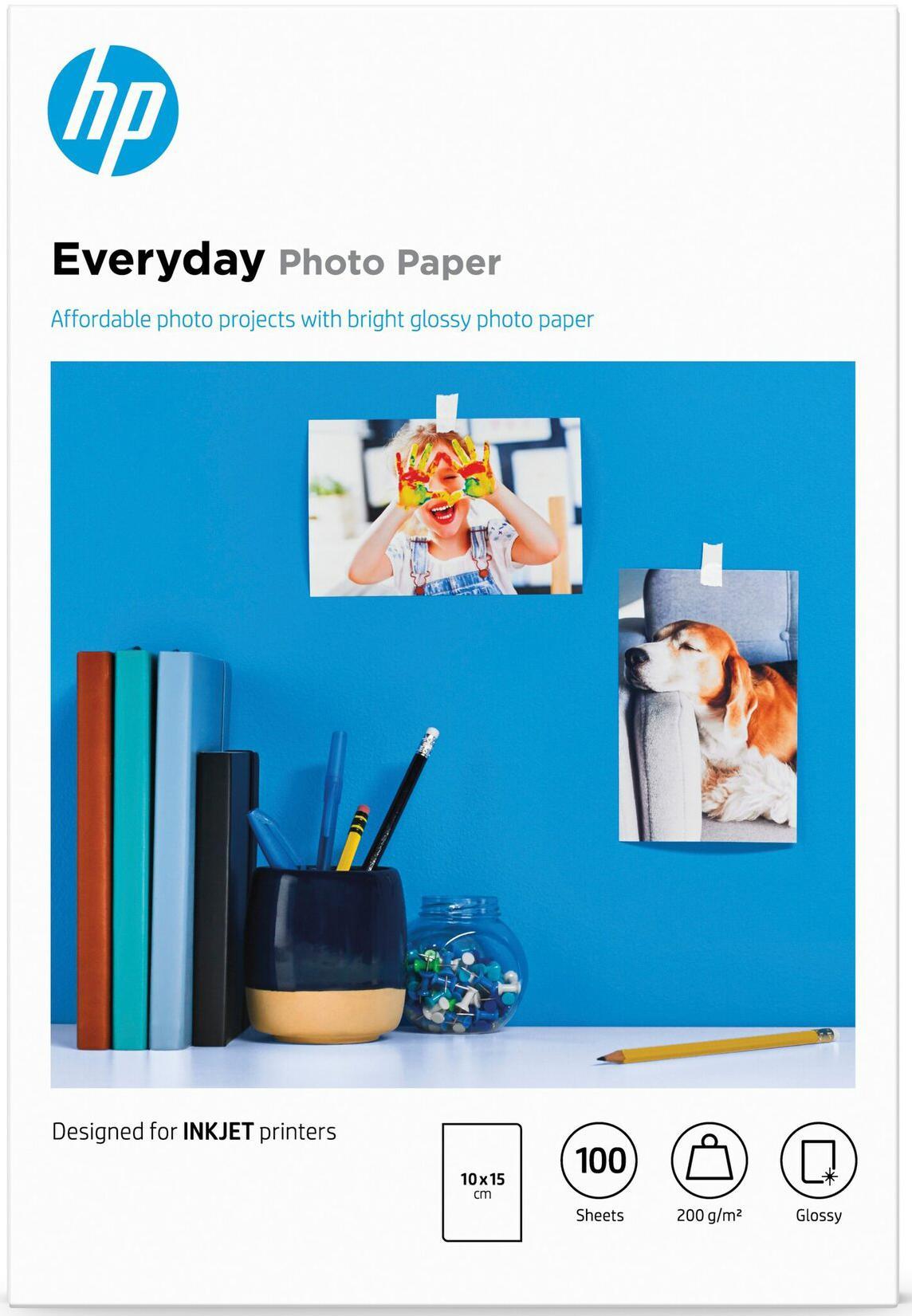 HP  Everyday fotopapier Hoogglans   10x15   200 gr/m² 1 stuks