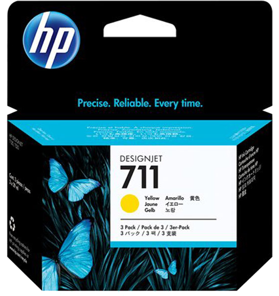 HP 711 3-pack geel