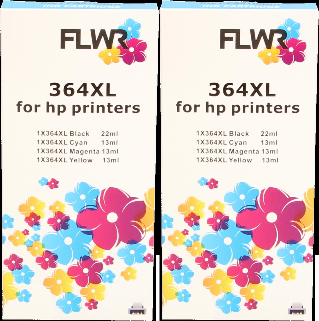 FLWR HP 364XL Multipack (2 sets) zwart en kleur