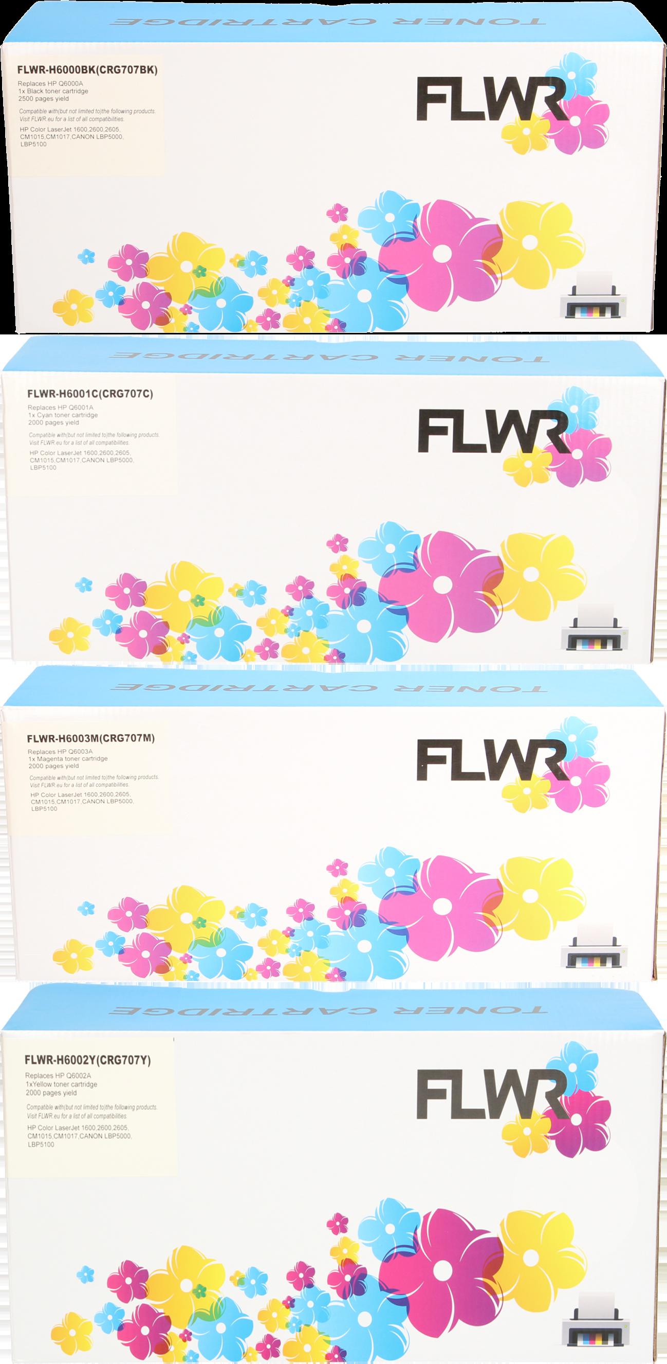 FLWR HP 124A Multipack zwart en kleur