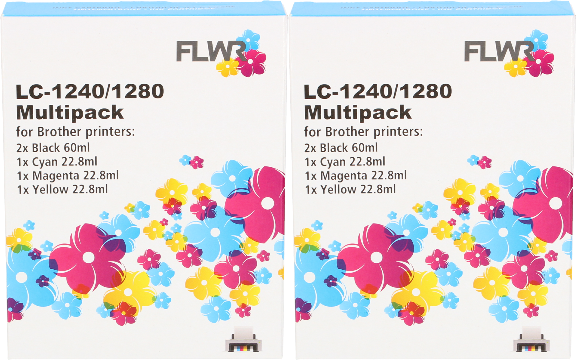 Huismerk Brother LC-1280XL Multipack (2 sets) zwart en kleur