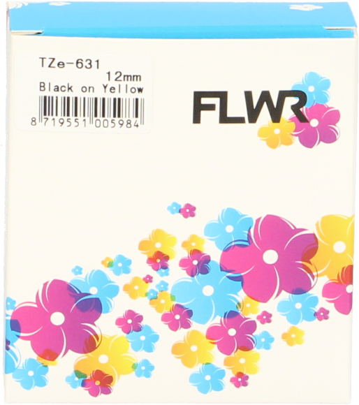 FLWR Brother TZE-631 zwart