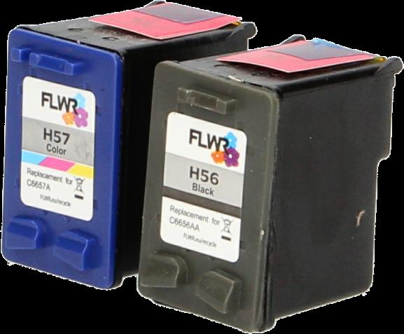 HP 56 en 57 Multipack zwart en kleur