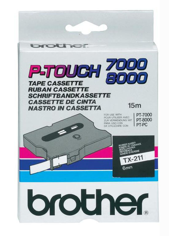 Brother TX-211 zwart