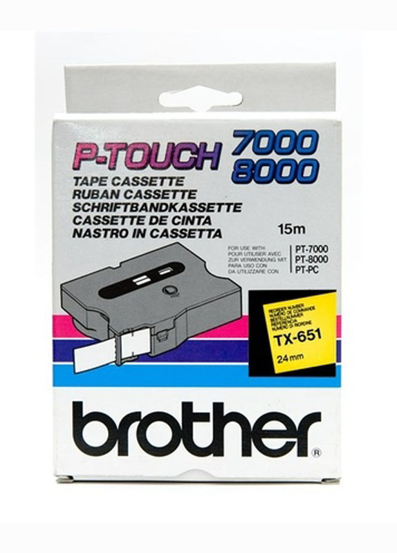 Brother TX-651 zwart