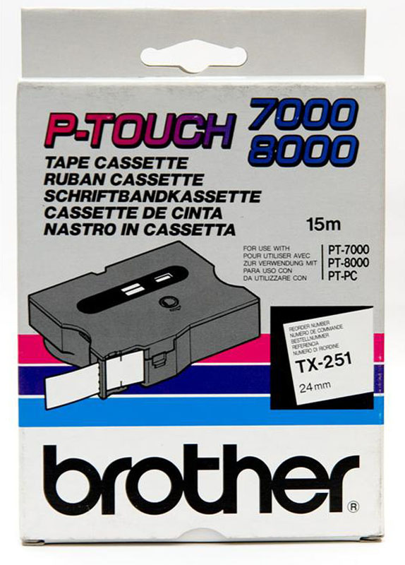 Brother TX-251 zwart