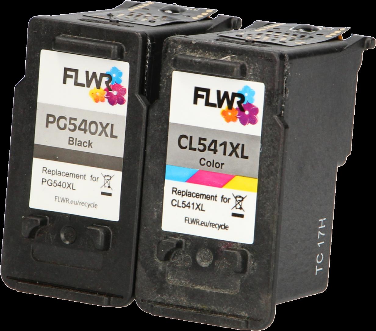 FLWR Canon PG-540XL / CL-541XL Multipack zwart en kleur