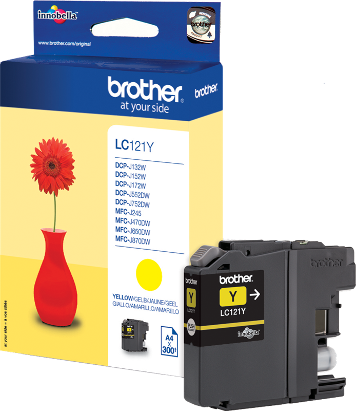 Brother LC-121Y geel