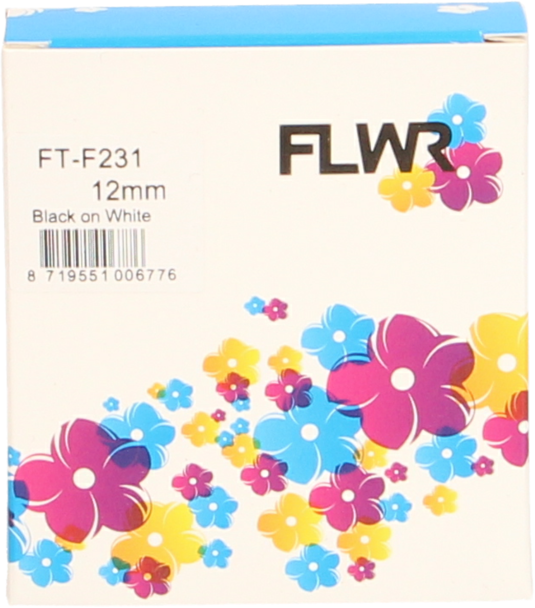 FLWR Brother TZE-231 zwart