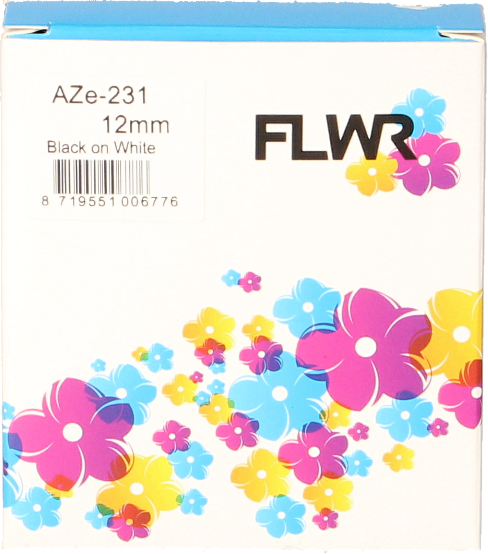 FLWR Brother TZE-231 zwart