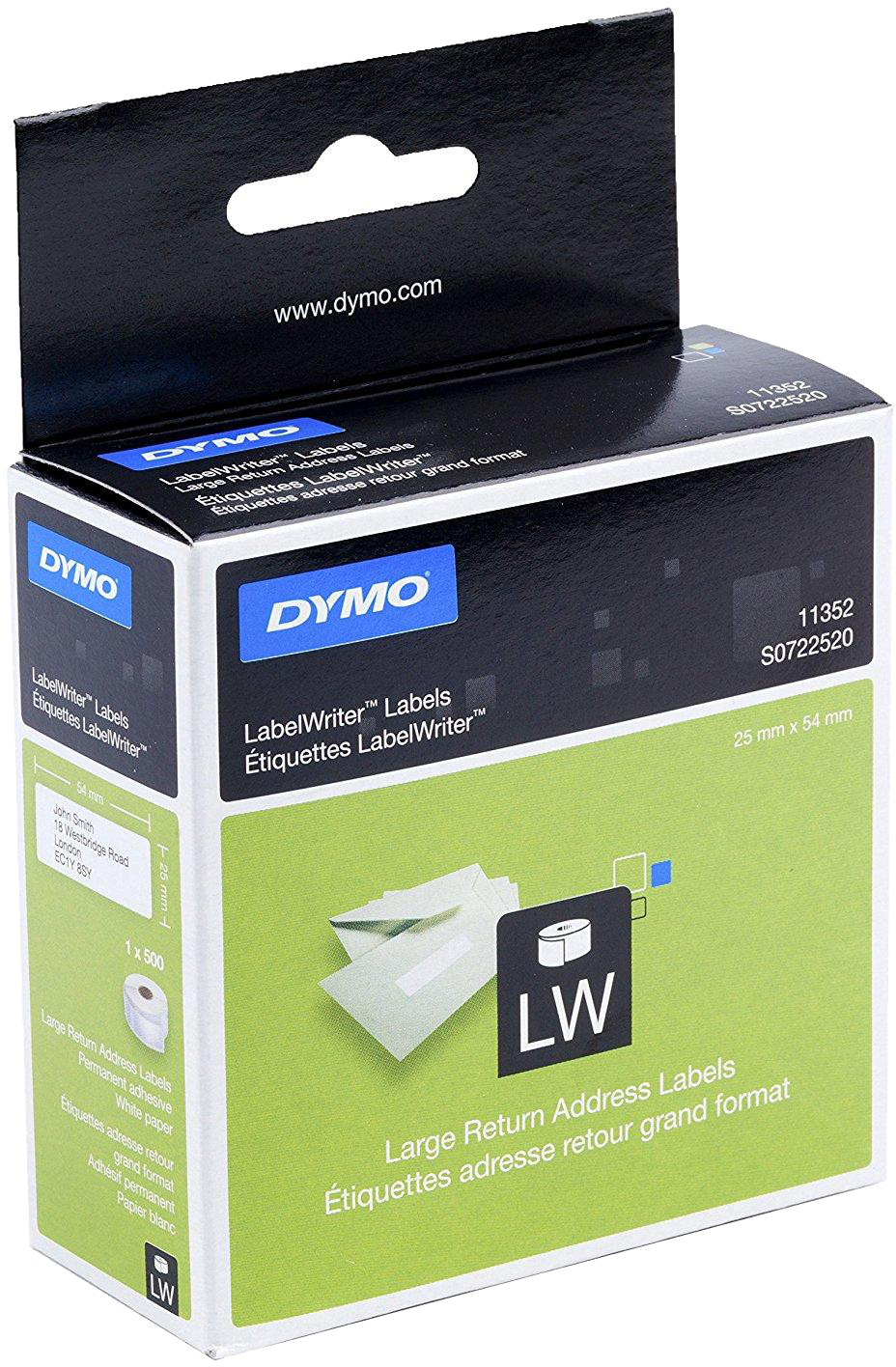 Dymo 11352 Return labels wit