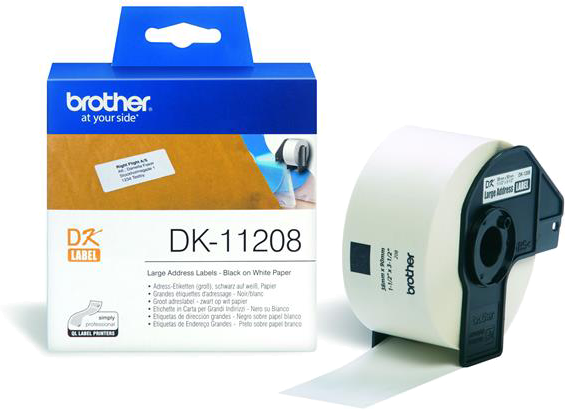 Brother  DK-11208 38 mm x 90 mm wit